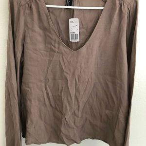 Large Tan Blouse brand new with tag